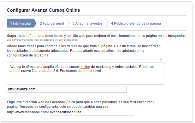 2 url facebook
