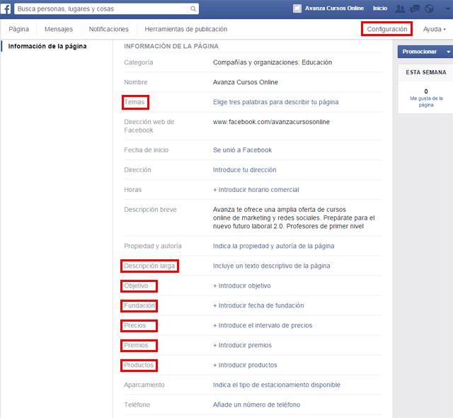 3  informacion pagina facebook